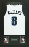 BASKETBALL SHIRT FRAMING WITH PLAQUE AND PHOTOS