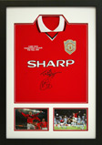 FOOTBALL SHIRT FRAMING WITH TICKET